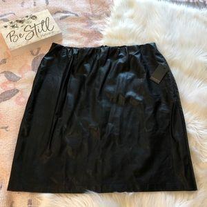Eloquii Faux Leather Pencil Skirt BLACK, Size 20